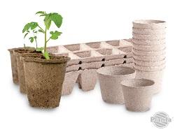 Do produkcji rozsad można wykorzystać doniczki torfowe, które następnie możemy zakopać w ziemi razem z rozsadą.